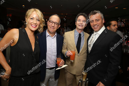 Andrea Anders, David Crane, Jeffrey Klarik and Matt LeBlanc seen at Showtime's 2014 Emmy Eve Soiree held at the Sunset Tower Hotel, in Los Angeles