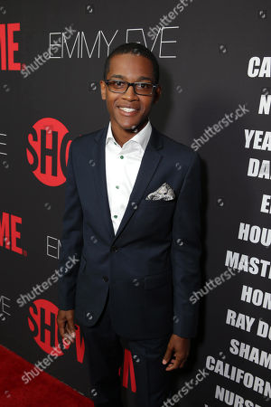 Octavius J. Johnson seen at Showtime's 2014 Emmy Eve Soiree held at the Sunset Tower Hotel, in Los Angeles