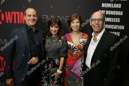 Showtime Networks President David Nevins, Andrea Nevins, Susan Blank and Showtime Networks Chairman and CEO Matthew C. Blank seen at Showtime's 2014 Emmy Eve held at the Sunset Tower Hotel, in Los Angeles