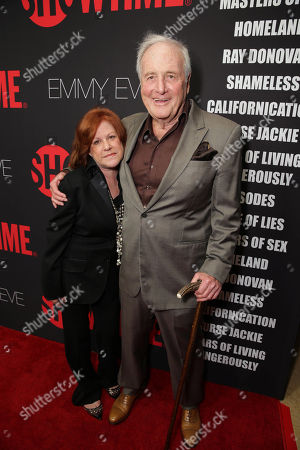 Stock Image of Susan Ekins and Jerry Weintraub seen at Showtime's 2014 Emmy Eve Soiree held at the Sunset Tower Hotel, in Los Angeles