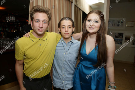 Exclusive - Jeremy Allen White, Ethan Cutkosky and Emma Kenney seen at Showtime's Emmy Eve 2015 at Sunset Tower Hotel, in Los Angeles, CA