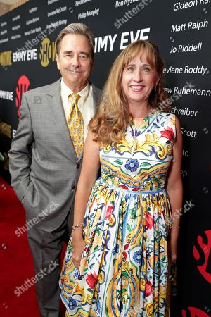 Beau Bridges and Wendy Treece Bridges seen at Showtime's Emmy Eve at the Sunset Tower, in Los Angeles