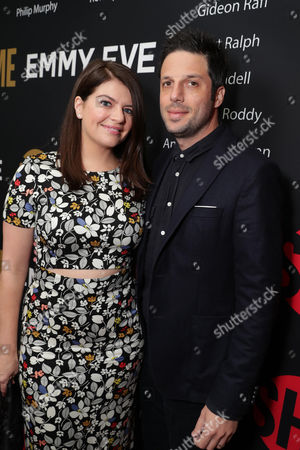 Casey Wilson and David Caspe seen at Showtime's Emmy Eve at the Sunset Tower, in Los Angeles