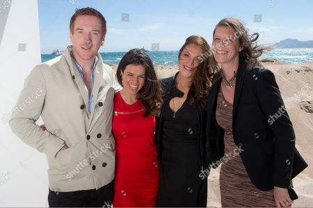 From left, actors Damian Lewis, director Corinna MacFralane, Barbara Broccoli and producer Nicky Bentham pose for photographers during The Silent Storm portrait session at the 66th international film festival, in Cannes, southern France