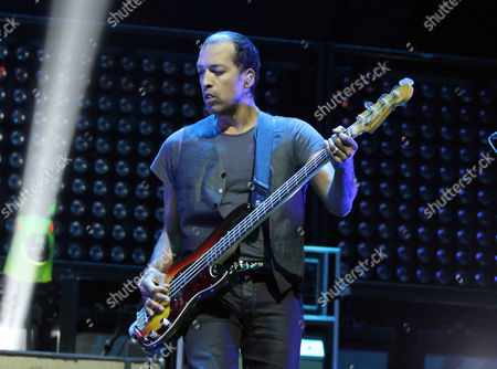 Joshua Winstead with Metric performs as the opener for Imagine Dragons during the Smoke & Mirrors Tour at Philips Arena, in Atlanta
