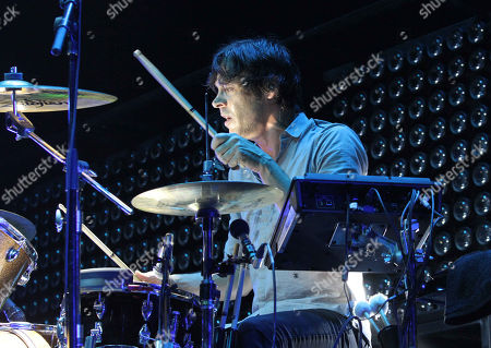 Stock Picture of Joules Scott-Key with Metric performs as the opener for Imagine Dragons during the Smoke & Mirrors Tour at Philips Arena, in Atlanta