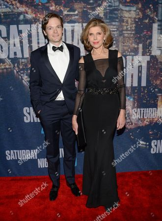Stock Image of Christine Baranski and husband Matthew Cowles attend the SNL 40th Anniversary Special at Rockefeller Plaza, in New York