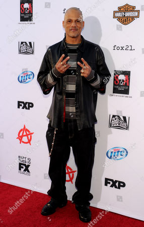 """David Labrava arrives at FX's """"Sons of Anarchy"""" Season 6 Premiere Screening and Party, on in Hollywood, Calif"""