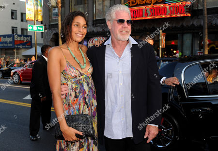 "From left, Blake Perlman and Ron Perlman arrive at FX's ""Sons of Anarchy"" Season 6 Premiere Screening and Party, on in Hollywood, Calif"
