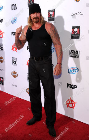 """Rusty Coones arrives at FX's """"Sons of Anarchy"""" Season 6 Premiere Screening and Party, on in Hollywood, Calif"""