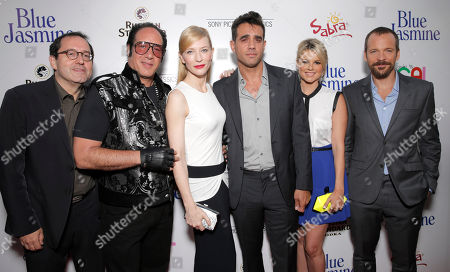 Sony Pictures Classics Co-President Michael Barker, Andrew Dice Clay, Cate Blanchett, Bobby Cannavale, Ali Fedotowsky and Peter Sarsgaard arrive on the red carpet at Sony Pictures Classics LA premiere of Blue Jasmine presented by The One Group on in Los Angeles