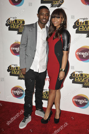 Stock Image of From left, TV personalities Shorty Da Prince and Paigion arrive at the Soul Train Awards at Planet Hollywood Resort and Casino, in Las Vegas