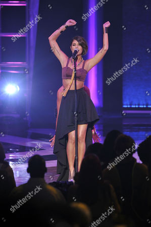 Singer Leah LaBelle performs at the Soul Train Awards at Planet Hollywood Resort and Casino, in Las Vegas