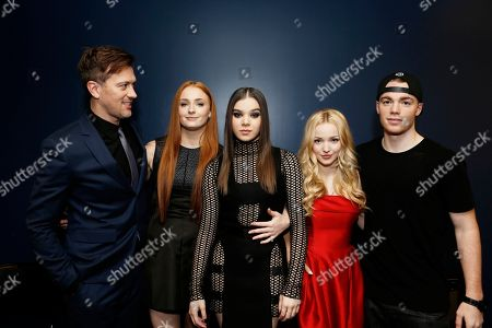 Stock Image of Director Kyle Newman, Sophie Turner, Hailee Steinfeld, Dove Cameron and Gabriel Basso seen at a Special Screening of 'Barely Lethal', in Los Angeles, CA