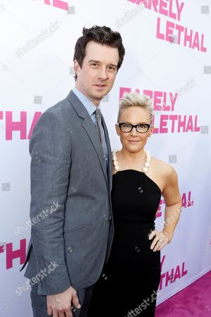 Christian Hebel and Rachael Harris seen at a Special Screening of 'Barely Lethal', in Los Angeles, CA