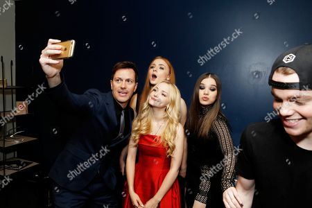 Stock Photo of Director Kyle Newman, Sophie Turner, Dove Cameron, Hailee Steinfeld and Gabriel Basso seen at a Special Screening of 'Barely Lethal', in Los Angeles, CA