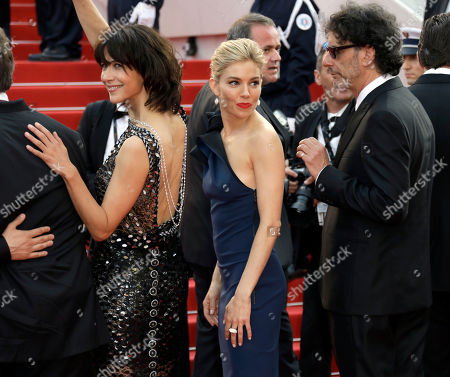 Sophie Marceau Sienna Miller and Joel Cohen arrive for the opening ceremony and the screening of the film La Tete en Haut (Standing Tall) at the 68th international film festival, Cannes, southern France