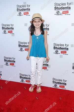 Stock Image of Actress Katie Silverman attends the Staples for Students Give-Back at the Saddle Ranch Chop House on in Universal City, Calif