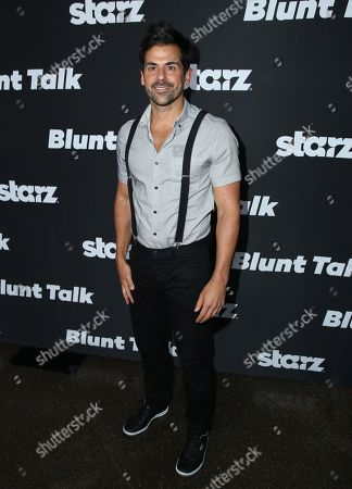 "Stock Photo of Adam Huss arrives at the Los Angeles premiere of ""Blunt Talk"" presented by Starz at the DGA Theater, in Los Angeles"