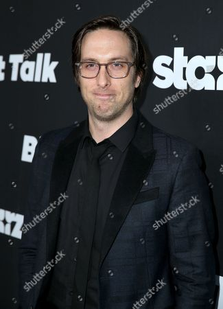 """Timm Sharp arrives at the Los Angeles premiere of """"Blunt Talk"""" presented by Starz at the DGA Theater, in Los Angeles"""