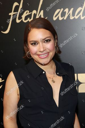 Stock Photo of Vanessa Aspillaga seen at the NYC premiere of Starz's original limited series Flesh and Bone at the NYU Skirball Center for the Performing Arts on in New York
