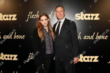 Riley Keough and Starz Managing Director, Carmi Zlotnik seen at the NYC premiere of Starz's original limited series Flesh and Bone at the NYU Skirball Center for the Performing Arts on in New York