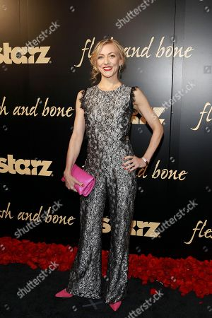 Tina Benko seen at the NYC premiere of Starz's original limited series Flesh and Bone at the NYU Skirball Center for the Performing Arts on in New York