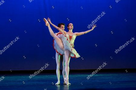 ABT principle dancer Gillian Murphy and ABT principle dancer James Whiteside perform at the NYC premiere of Starz's original limited series Flesh and Bone at the NYU Skirball Center for the Performing Arts on in New York