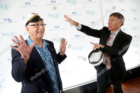 Stephen Schwartz, the Oscar, Grammy and Tony award-winning composer ofWicked, PippinandGodspell, and Gavin MacLeod from The Love Boat at the premiere of the new musical revue titledMagic to Doaboard theCrown Princess on Sat., in Los Angeles