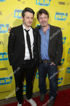 Director/Writer/Producer/Actor Ilya Naishuller and Writer/Actor/Executive Producer Will Stewart seen at STX Entertainment 'Hardcore Henry' screening at 2016 SXSW Film Festival, in Austin, TX