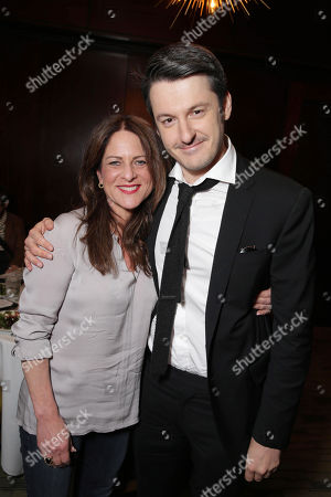 Cathy Schulman, President of Production at STX Entertainment, and Director/Writer/Producer/Actor Ilya Naishuller seen at STX Entertainment â?˜Hardcore Henryâ?™ reception at 2016 SXSW Film Festival, in Austin, TX