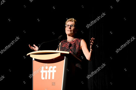 "Premier of Ontario Kathleen Wynne seen at STX Entertainment's ""THE EDGE OF SEVENTEEN"" at the 2016 Toronto International Film Festival, in Toronto"