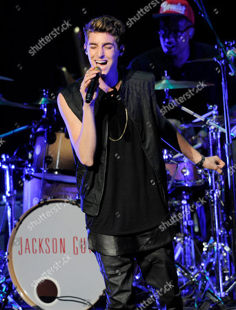 """Jackson Guthy performs during the """"Summer Break Tour"""" at the Gibson Amphitheatre on in Universal City, Calif"""