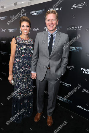 """Writer Matthew Michael Carnahan and guest seen at Summit Entertainment New Orleans Premiere of """"Deepwater Horizon"""", in New Orleans"""