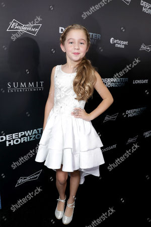 """Stock Image of Stella Allen seen at Summit Entertainment New Orleans Premiere of """"Deepwater Horizon"""", in New Orleans"""