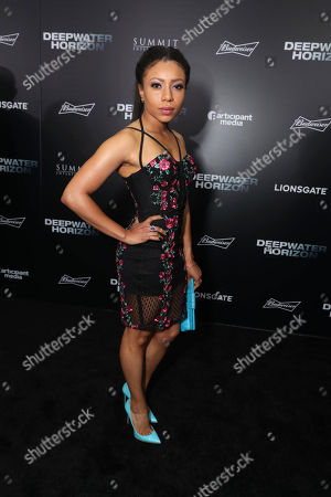 """Stock Image of Shalita Grant seen at Summit Entertainment New Orleans Premiere of """"Deepwater Horizon"""", in New Orleans"""