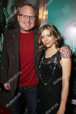 "Writer Derek Kolstad and Sonja Kolstad seen at Summit Entertainment's ""John Wick"" Los Angeles Special Screening held at The Arclight Hollywood, in Hollywood"