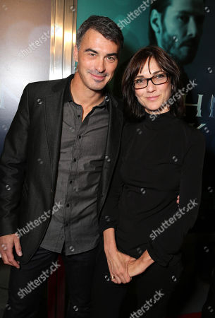 """Director Chad Stahelski and Eda Kowan, EVP of Co-Productions and Acquisitions at Lionsgate Motion Picture Group seen at Summit Entertainment's """"John Wick"""" Los Angeles Special Screening held at The Arclight Hollywood, in Hollywood"""
