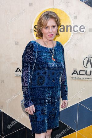 Amy Redford arrives at the Sundance NIGHT BEFORE NEXT Benefit at The Theatre at Ace Hotel, in Los Angeles