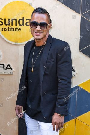 Stock Photo of DJ Jace One arrives at the Sundance NIGHT BEFORE NEXT Benefit at The Theatre at Ace Hotel, in Los Angeles