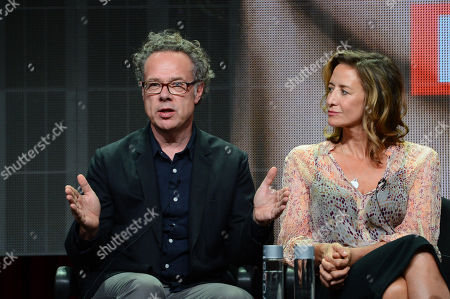 """Greg Brenman, Executive Producer and Janet McTeer at SundanceTV TCA Panel for """"The Honorable Woman"""" at the Beverly Hilton on in Beverly Hills"""