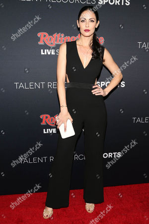 Summer Altice arrives at the Super Bowl 50 Rolling Stone Party at The Galleria at the San Francisco Design Center, in San Francisco