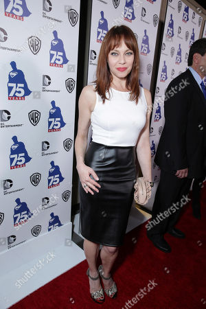 Melinda Clarke attends the 'Superman' 75th Anniversary Party on Day 3 of 2013 Comic-Con International Convention on in San Diego, Calif