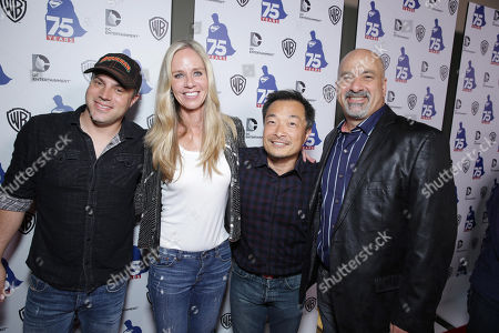 DC Entertainments' Chief Creative officer Geoff Johns, DC Entertainments' President Diane Nelson, DC Entertainments' Co-Publisher Jim Lee and DC Entertainments' Co-Publisher Dan DiDio attend the 'Superman' 75th Anniversary Party on Day 3 of 2013 Comic-Con International Convention on in San Diego, Calif