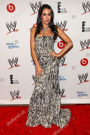WWE Superstar Brianna Garcia-Colace (AKA Brie Bella) arrives at the Superstars of Hope honors Make A Wish Foundation event at The Beverly Hills Hotel on in Beverly Hills, Calif