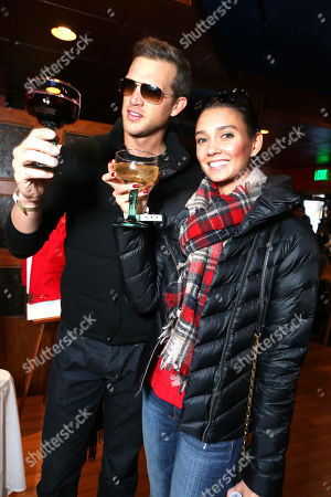 Stock Picture of Matt Nordgren and Whitney English attend Talent Resources suites,, in Park City, Utah