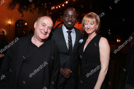 Jeeps Loeb, Mike Colter and Melissa Rosenberg seen at Ted Sarandos' Annual Netflix Emmy Nominee Toast, in Los Angeles, CA