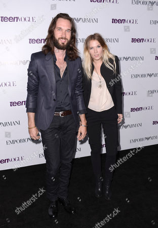 From left to right, musicians Elliot Bergman and Natalie Bergman arrive at the Teen Vogue Young Hollywood issue party on in Los Angeles