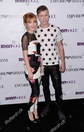 Actress Bella Thorne, left, and Tristan Klier arrive at the Teen Vogue Young Hollywood issue party on in Los Angeles