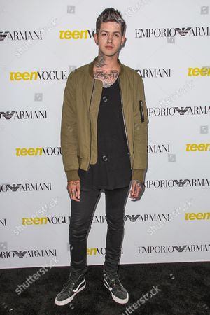 T. Mills attends the Teen Vogue's 13th Annual Young Hollywood Issue Launch Party on in Los Angeles